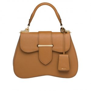 Prada Tan Sidonie Large Saffiano Bag