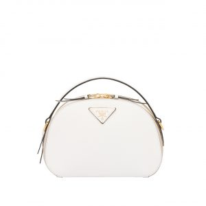 Prada White Odette Saffiano Leather Bag