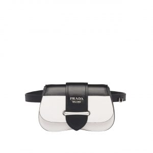 Prada White Sidonie Belt Bag