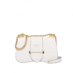 Prada White Sidonie Chain Shoulder Bag