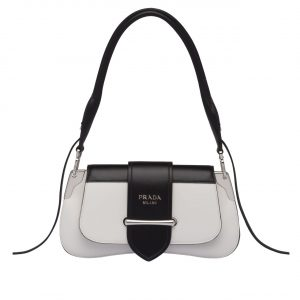 Prada White Sidonie Shoulder Bag