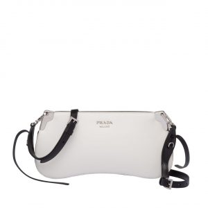 Prada White Sidonie Small Shoulder Bag