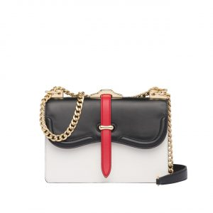 Prada White/Black Belle Shoulder Bag