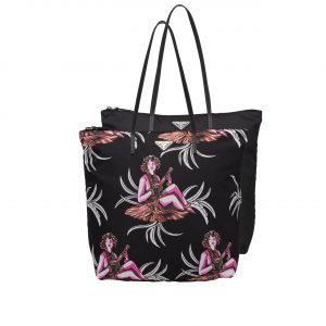 Prada Woman Print Nylon Twin Bag