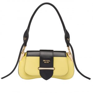 Prada Yellow Sidonie Shoulder Bag