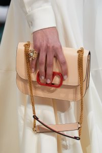 Valentino Beige V-Ring Flap Bag - Fall 2019