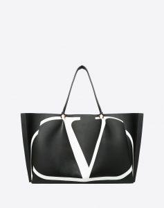Valentino Black V Go Logo Escape Large Shopper Bag