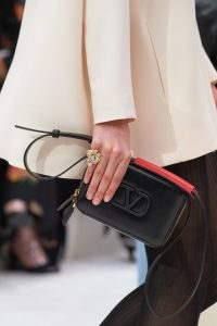 Valentino Black V-Ring Camera Case Bag - Fall 2019