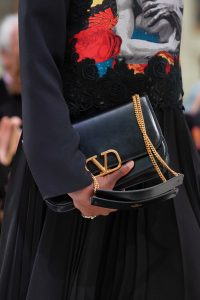 Valentino Black V-Ring Flap Bag 2 - Fall 2019