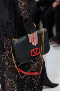 Valentino Black V-Ring Flap Bag 8 - Fall 2019