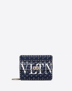 Valentino Blue Medium VLTN Rockstud Spike.It Bag