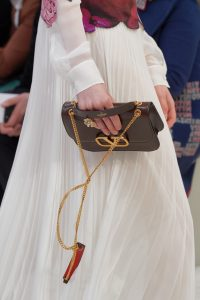 Valentino Brown V-Ring Flap Bag - Fall 2019