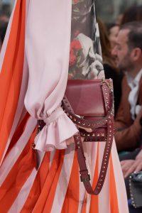 Valentino Burgundy Rockstud Flap Bag - Fall 2019