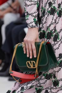 Valentino Green V-Ring Flap Bag 2 - Fall 2019