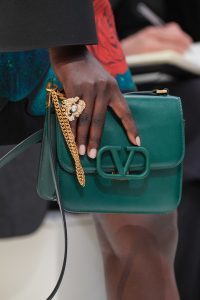 Valentino Green V-Ring Flap Bag - Fall 2019