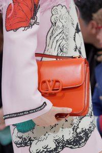 Valentino Orange V-Ring Flap Bag - Fall 2019
