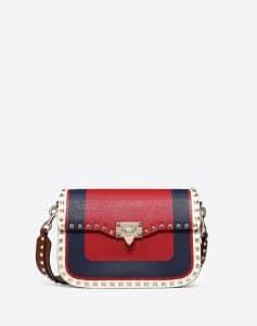 Valentino Red Inlayed Rockstud Medium Crossbody Bag