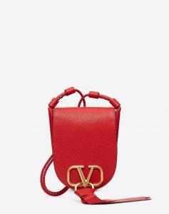 Valentino Red V-Ring Small Crossbody Bag