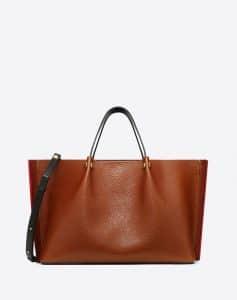 Valentino Tan Go Logo Escape Medium Shopper Bag