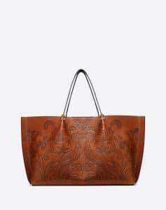Valentino Tan Phoenix Print Go Logo Escape Large Shopper Bag