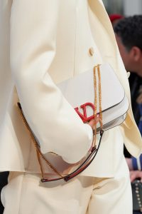 Valentino White V-Ring Flap Bag 2 - Fall 2019
