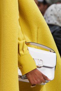 Valentino White V-Ring Flap Bag - Fall 2019