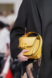 Valentino Yellow V-Ring Flap Bag - Fall 2019