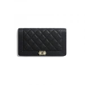 Chanel Black Boy Chanel Long Flap Wallet