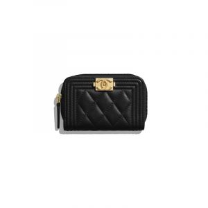 Chanel Black Boy Chanel Zipped Coin Purse