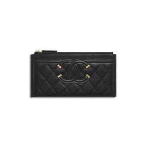Chanel Black CC Filigree Small Pouch