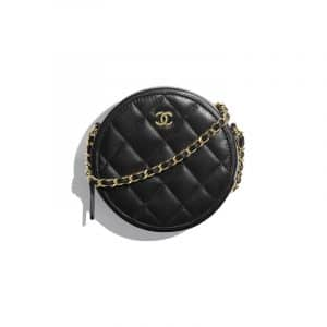Chanel Black Classic Clutch With Chain