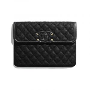 Chanel Black Timeless CC Pouch