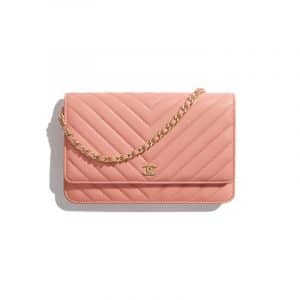 Chanel Coral Classic Wallet On Chain