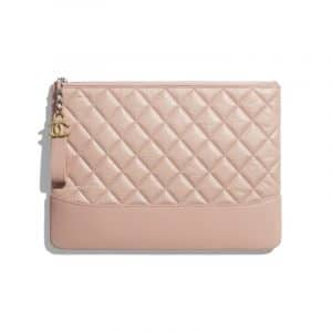 Chanel Light Pink Aged Calfskin Pouch