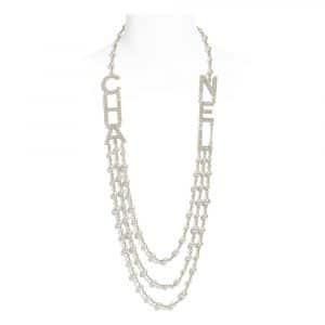 Chanel Metal, Glass Pearls & Strass Long Necklace