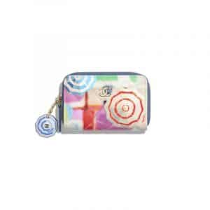 Chanel Multicolor Printed Patent Classic Zipped Coin Purse