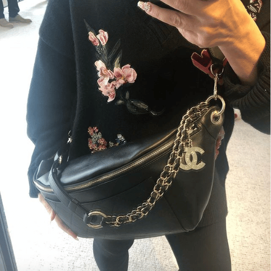 55eea78119e Chanel Pharrell Black Belt Bag. IG: looking_for_luxe