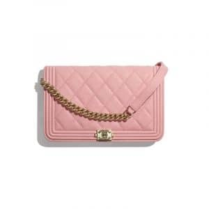 Chanel Pink Boy Chanel Wallet On Chain