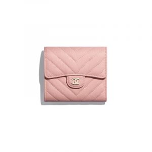 Chanel Pink Classic Small Flap Wallet