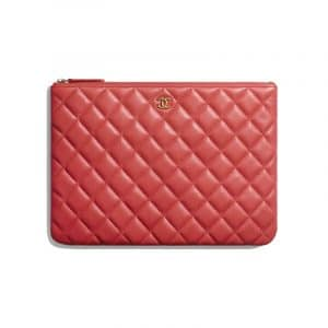 Chanel Red Classic Pouch