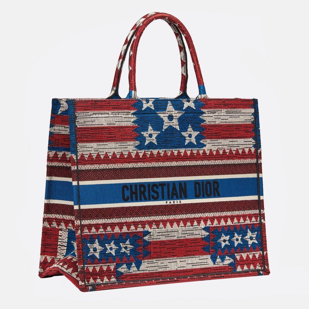 Dior American Flag Book Tote Bag 2