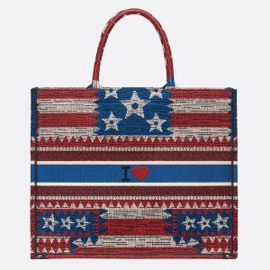Dior American Flag Book Tote Bag 3