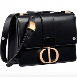 Dior Black 30 Montaigne Flap Bag