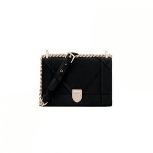 Dior Black Suede Diorama Bag