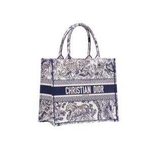 Dior Blue Toile de Jouy Small Book Tote Bag