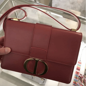 Dior Burgundy 30 Montaigne Flap Bag 2