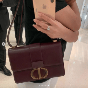Dior Burgundy 30 Montaigne Flap Bag 3