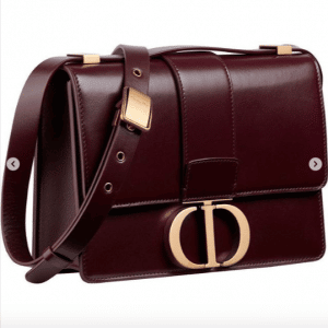 Dior Burgundy 30 Montaigne Flap Bag