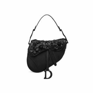 Dior Floral Embellished Saddle Bag