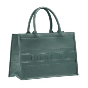 Dior Gray Leather Book Tote Bag
